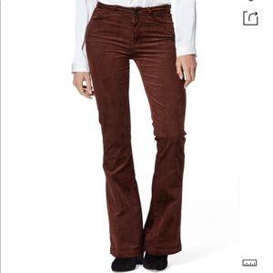 PAIGE Lou Lou High Waist Flare Corduroy Pants